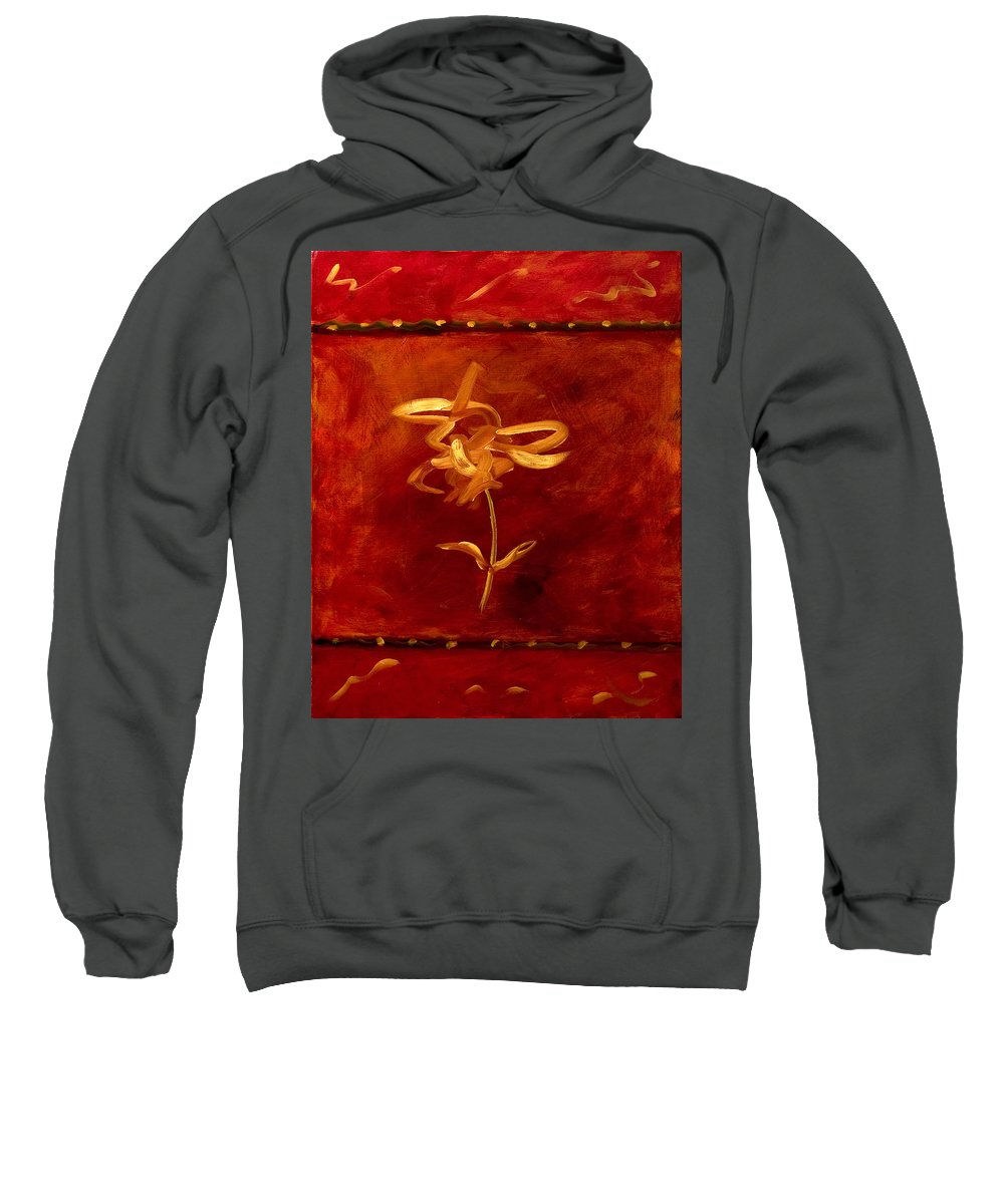 Abstract Sweatshirt featuring the painting Confidence by Shannon Grissom
