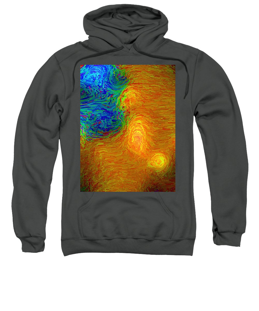 Emotion Sweatshirt featuring the digital art Confusion by April Patterson