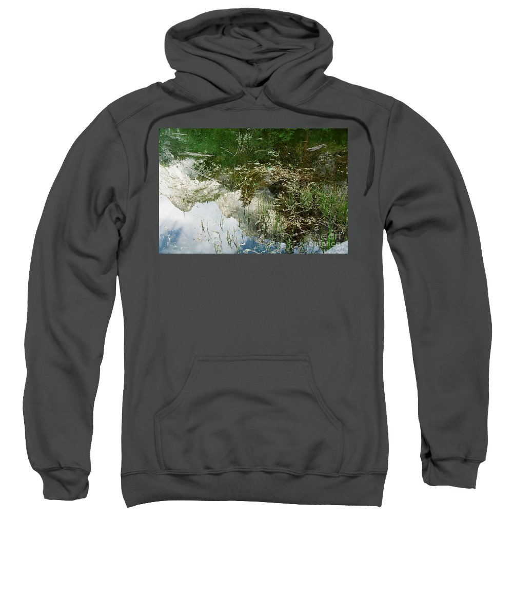 Mirror Lake Sweatshirt featuring the photograph Confusion by Kathy McClure