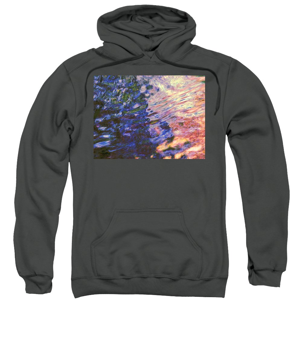 Abstract Sweatshirt featuring the photograph Congruent Forces by Sybil Staples