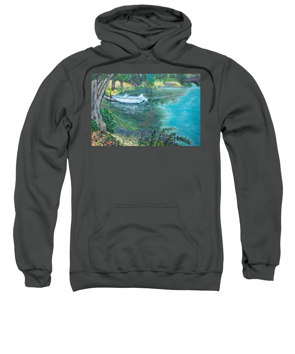 Connecticut Sweatshirt featuring the painting Connecticut River by Carolyn Donnell
