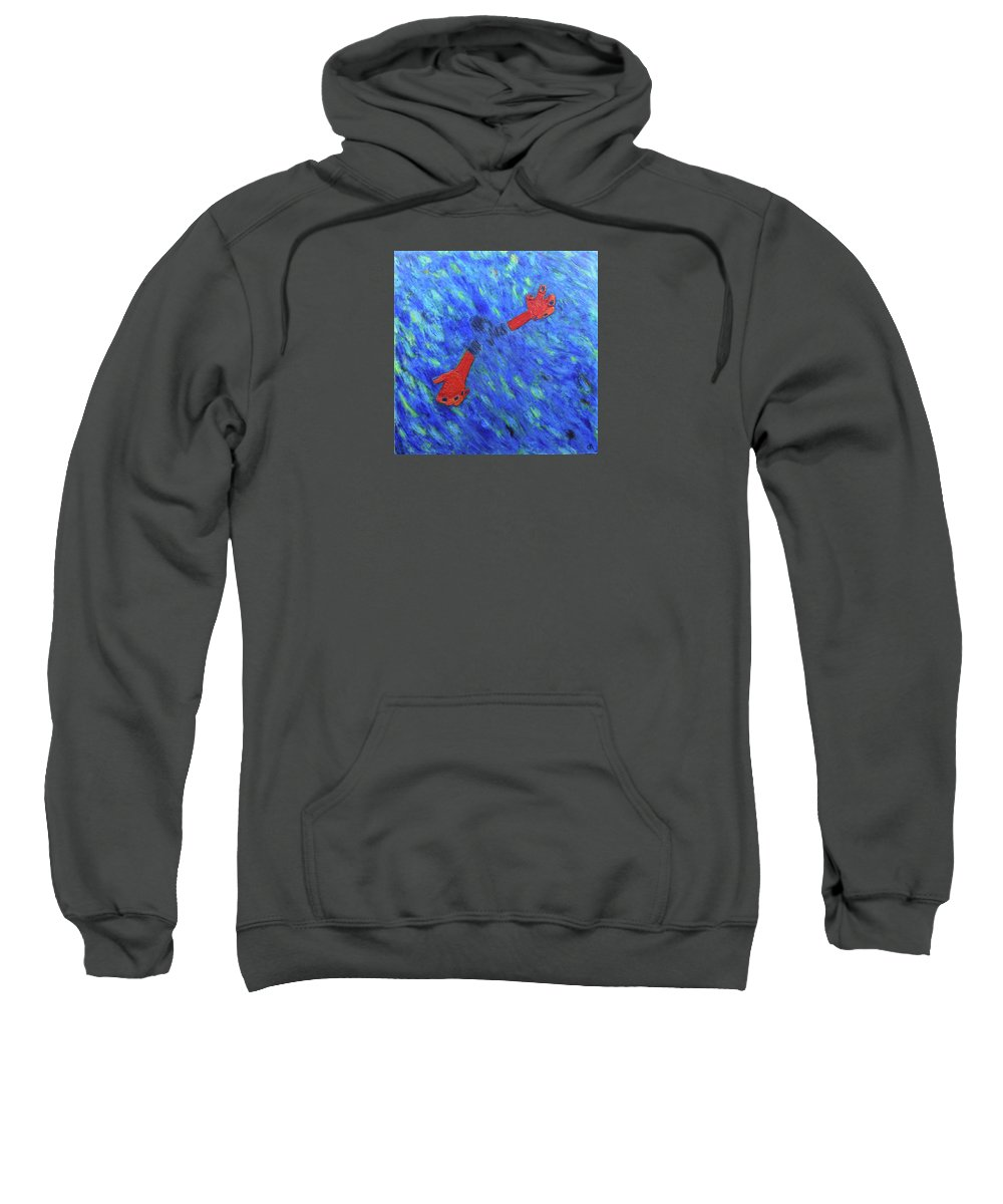 Consciousness Sweatshirt featuring the painting Consciousness by Clay McGurk
