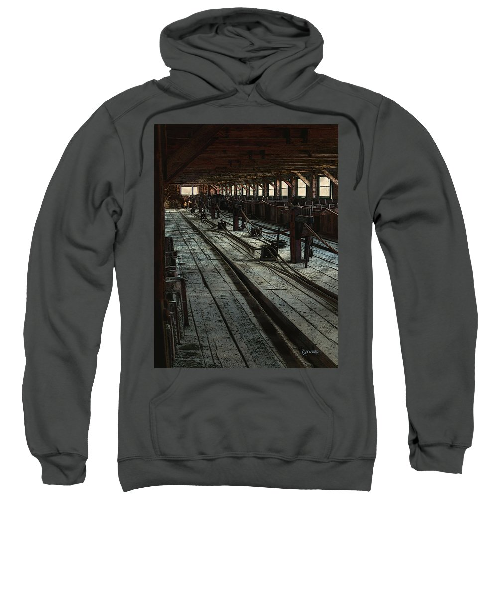 Historical Sweatshirt featuring the painting Consigned To Hell by RC deWinter