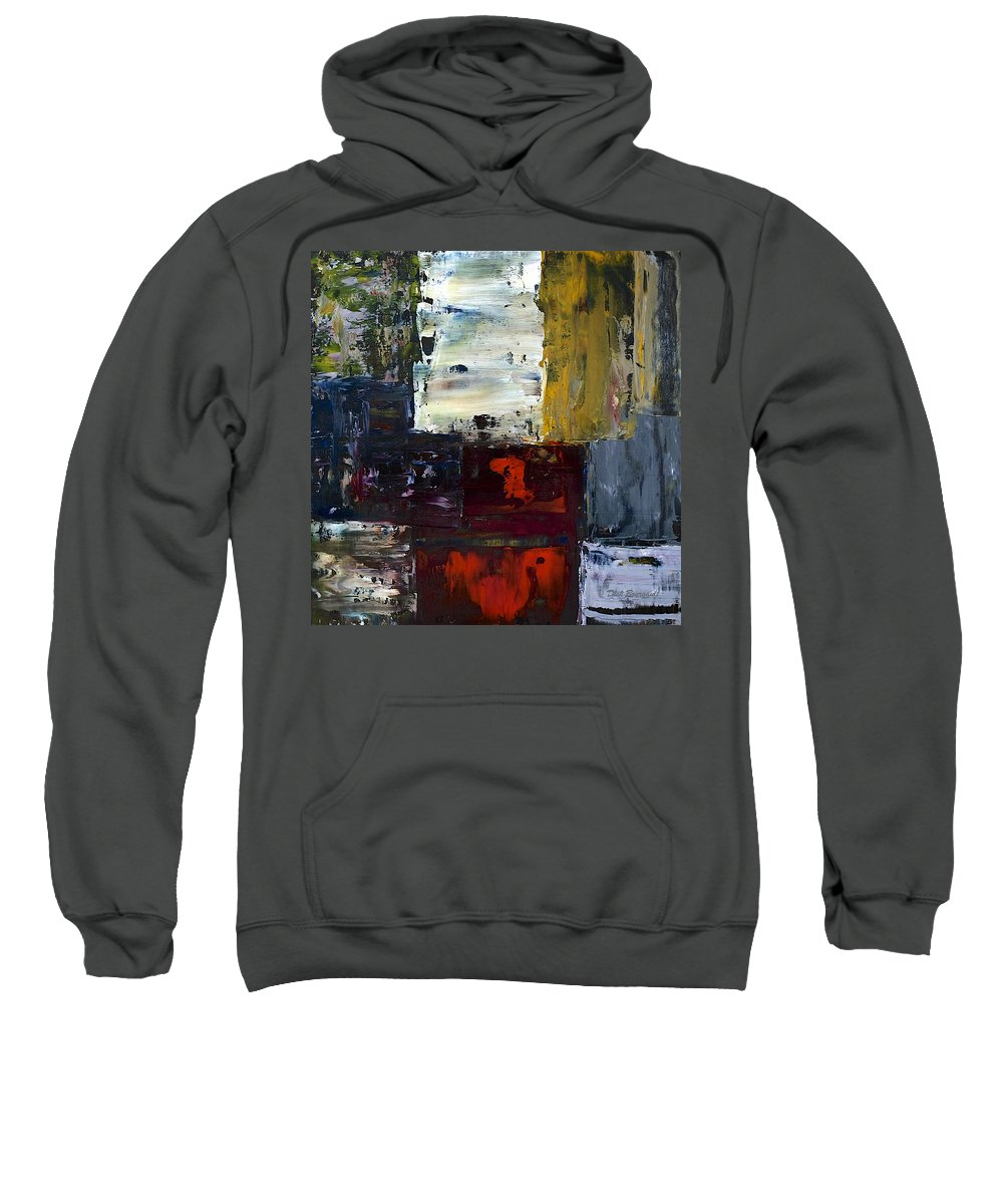 Abstract Sweatshirt featuring the painting Contemplation by Dick Bourgault