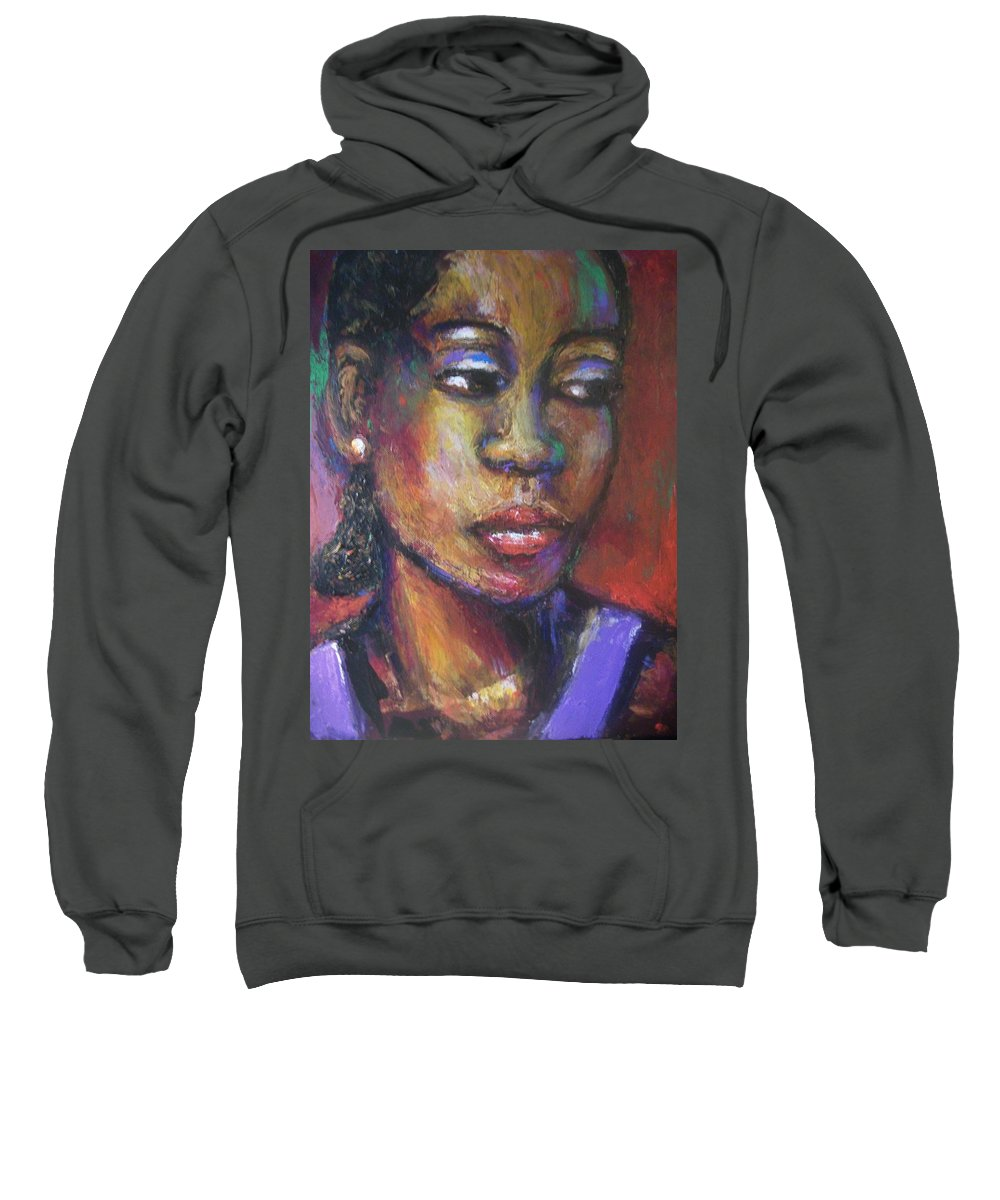 Sweatshirt featuring the painting Contemplation by Jan Gilmore