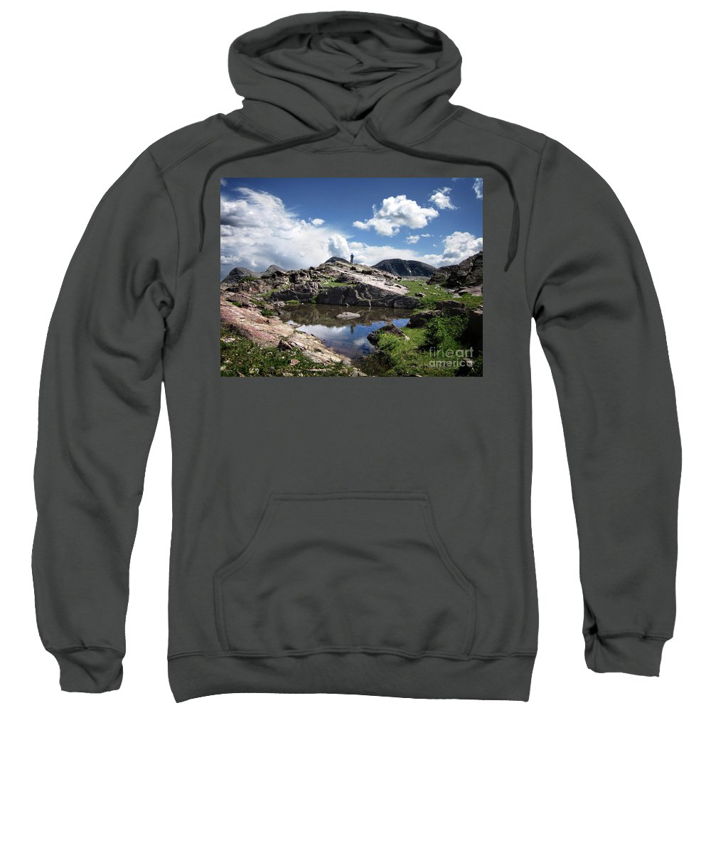 Weminuche Wilderness Sweatshirt featuring the photograph Continental Divide Above Twin Lakes 2 - Weminuche Wilderness by Bruce Lemons