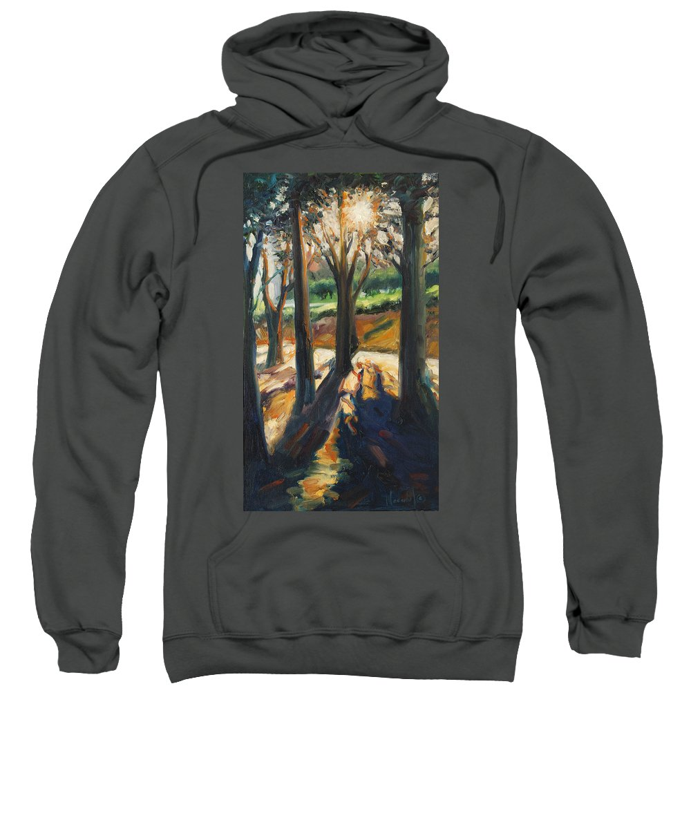 Trees Sweatshirt featuring the painting Contrast by Rick Nederlof