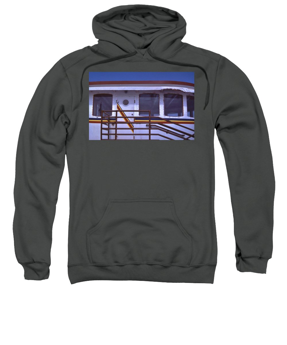Tugboat Sweatshirt featuring the photograph Converted Tugboat Cabin  Canal Park Duluth Minnesota by Rory Cubel
