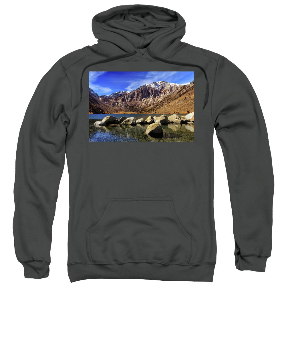 Landscape Sweatshirt featuring the photograph Convict Lake by James Eddy