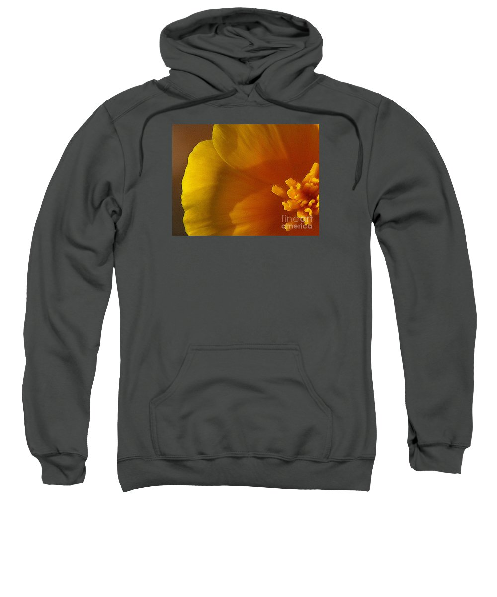 Poppy Sweatshirt featuring the photograph Copa De Oro - Subdued by Linda Shafer