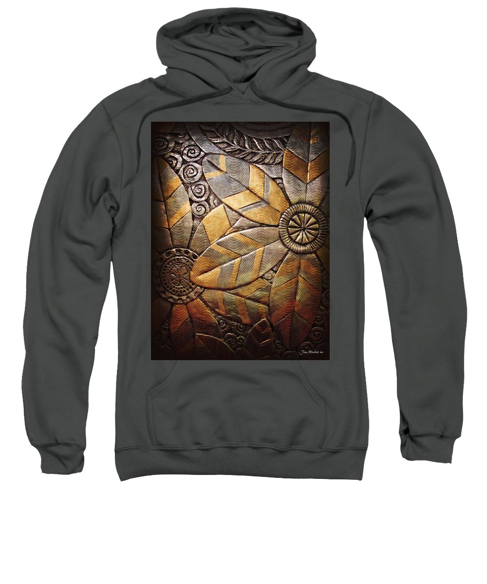 Abstract Sweatshirt featuring the photograph Copper Design by Joan Minchak