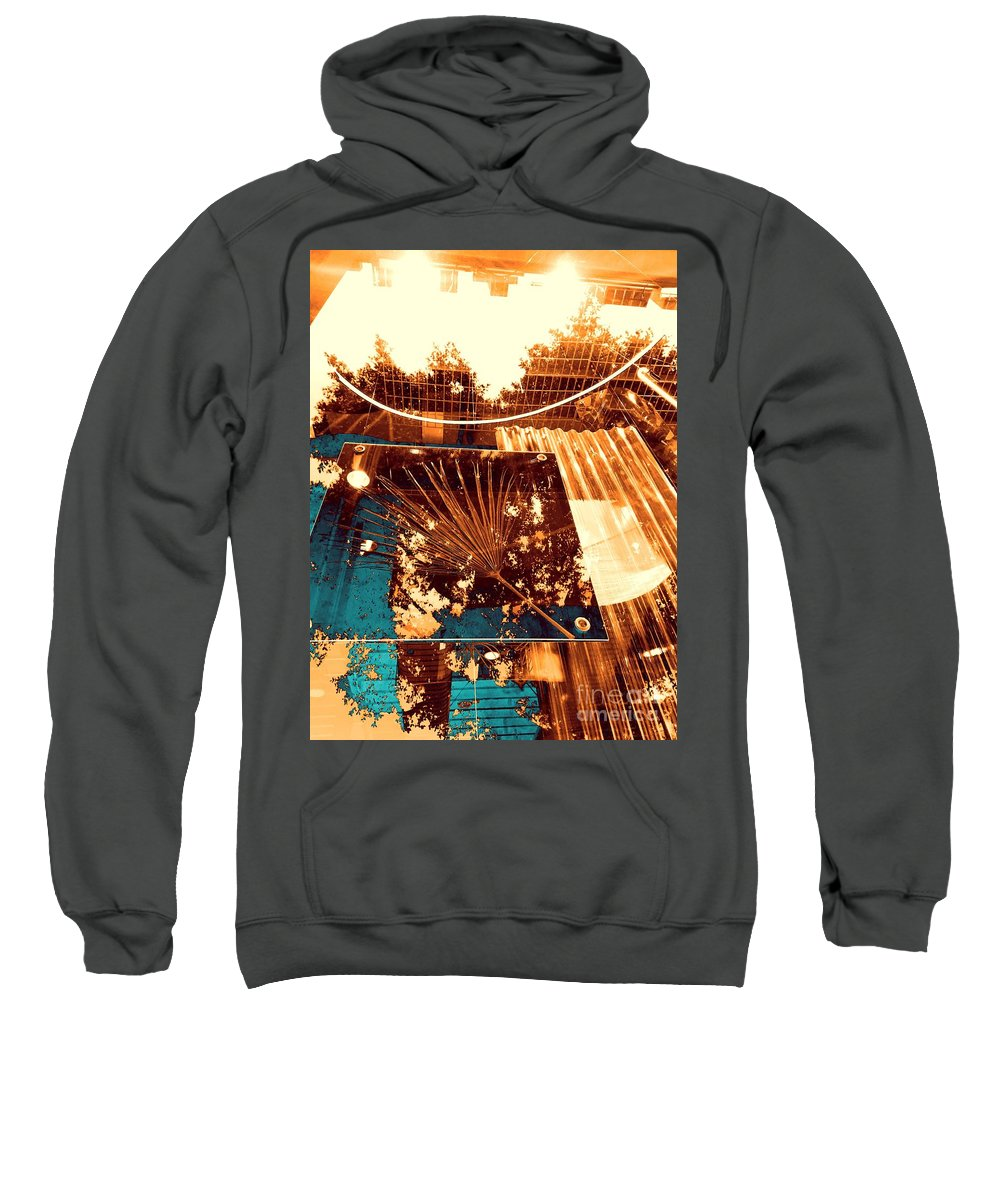 Abstract Sweatshirt featuring the photograph Copper Reflections by Jenny Revitz Soper