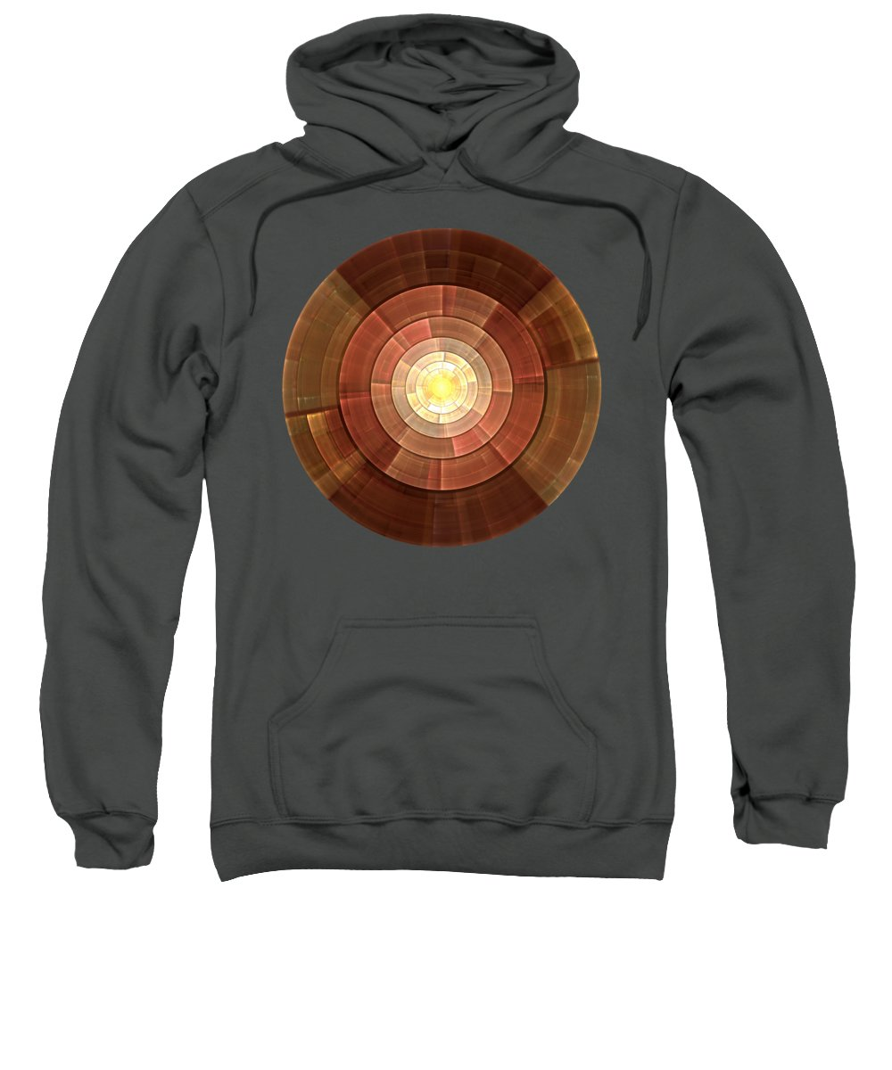 Malakhova Sweatshirt featuring the digital art Copper Shield by Anastasiya Malakhova