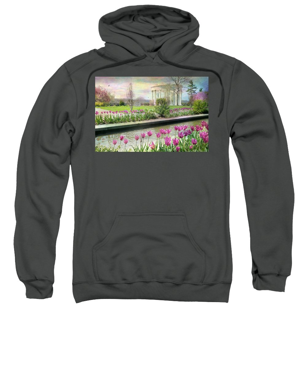 Untermyer Gardens Sweatshirt featuring the photograph Corinthian by Diana Angstadt