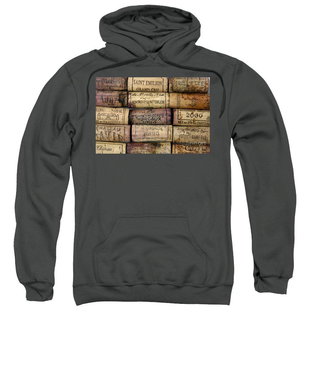 Bouchons Sweatshirt featuring the photograph Corks Of French Wine by Bernard Jaubert