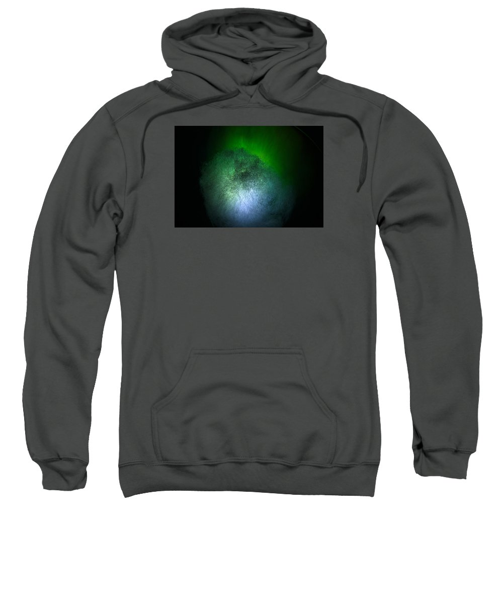 Abstract Sweatshirt featuring the photograph Cosmic Comet by Denise Mazzocco