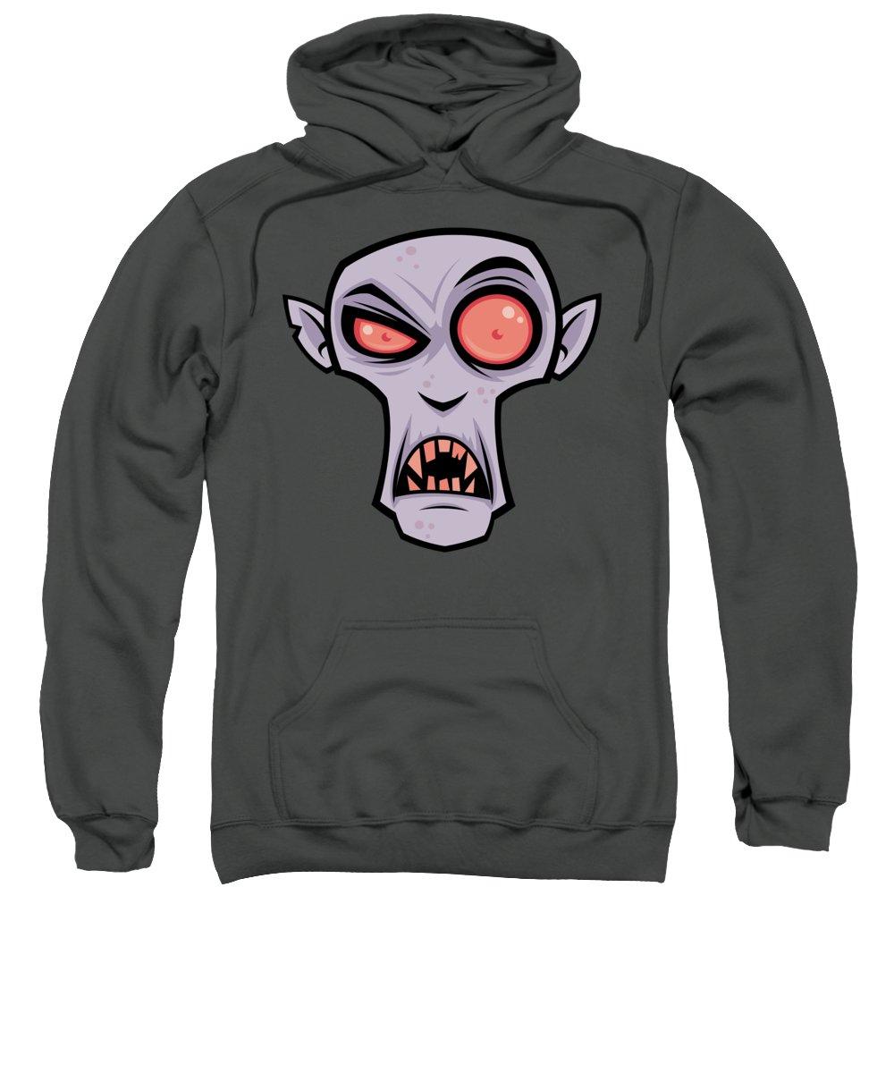 Dracula Sweatshirt featuring the digital art Count Dracula by John Schwegel