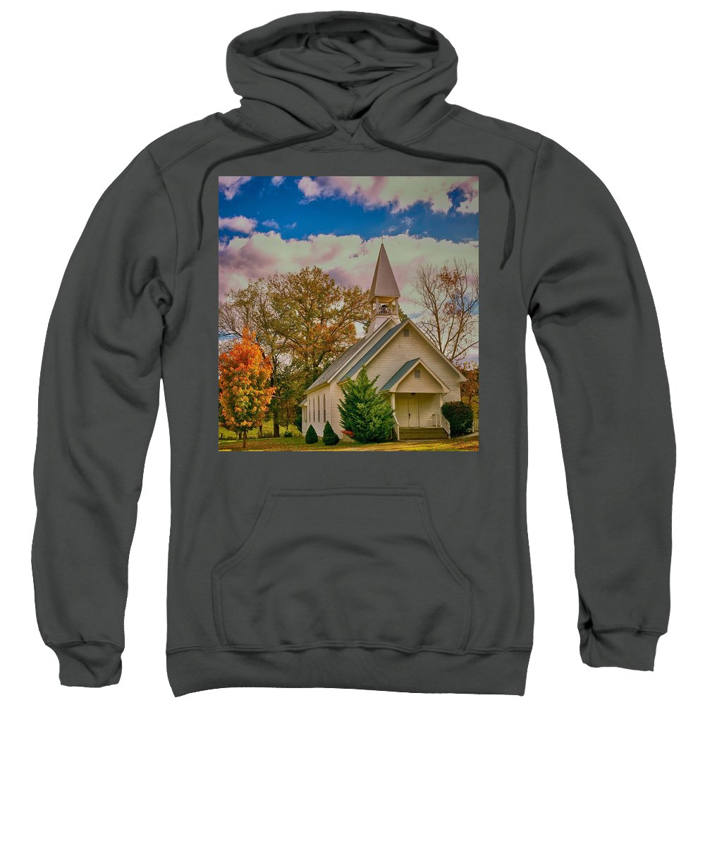 Landscape Sweatshirt featuring the photograph Country Church by John Prickett