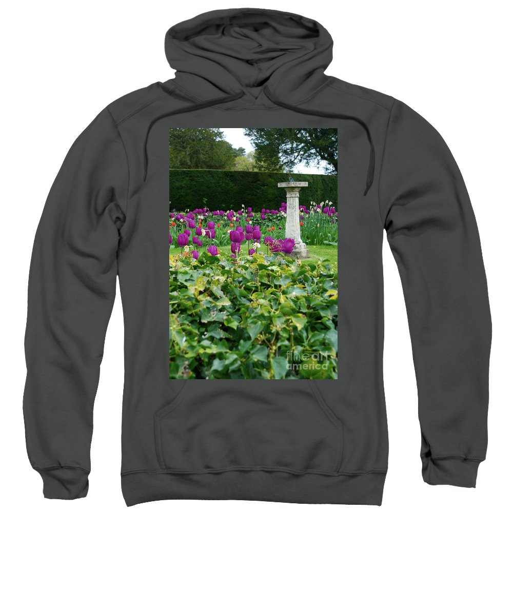 Sundial Sweatshirt featuring the photograph Country Garden by Richard Gibb