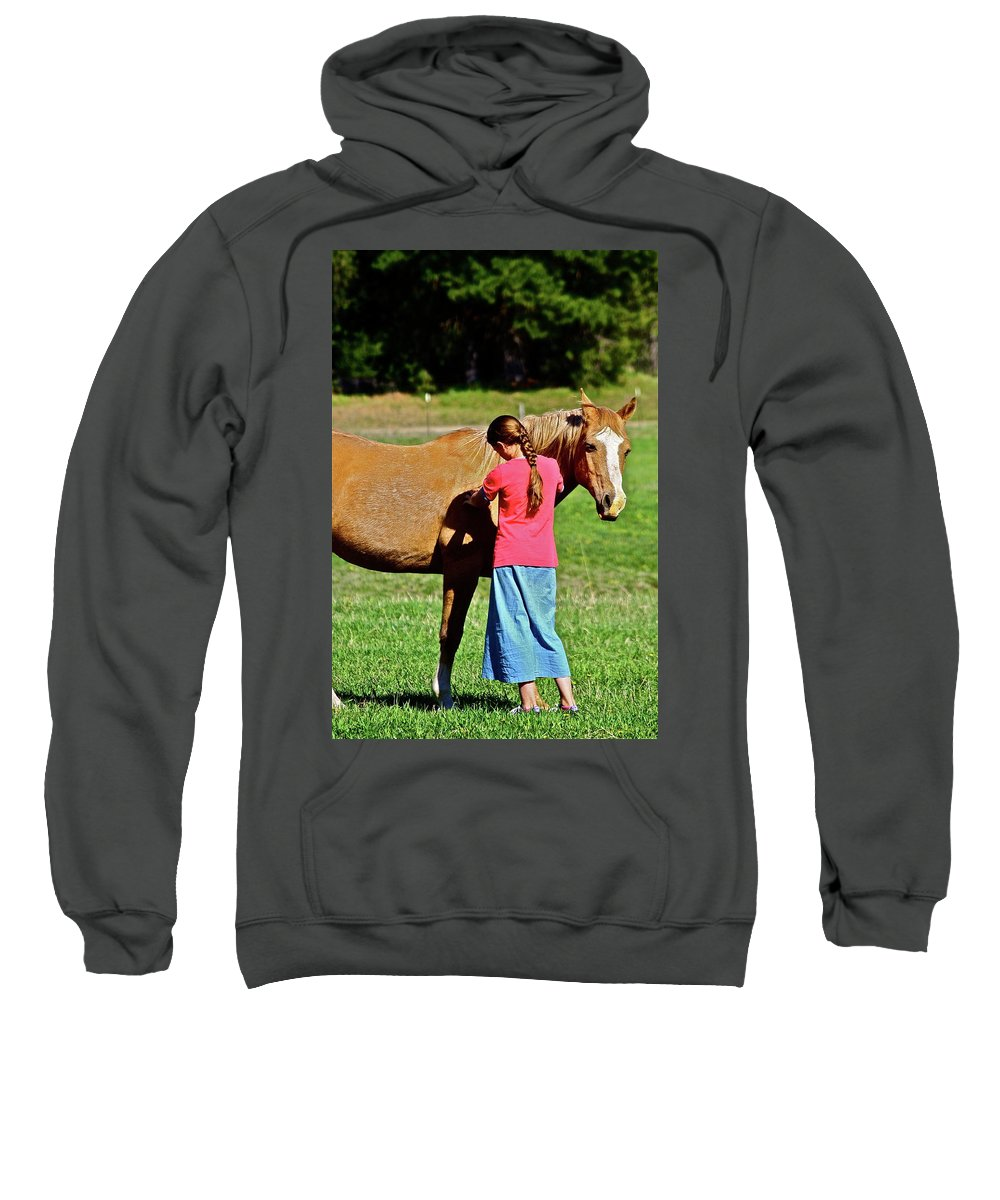 Girl Sweatshirt featuring the photograph Country Girl by Diana Hatcher