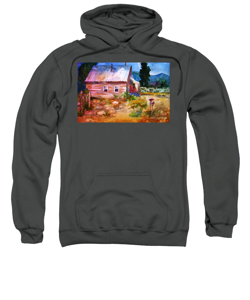 Cottage Sweatshirt featuring the painting Country House by Frances Marino