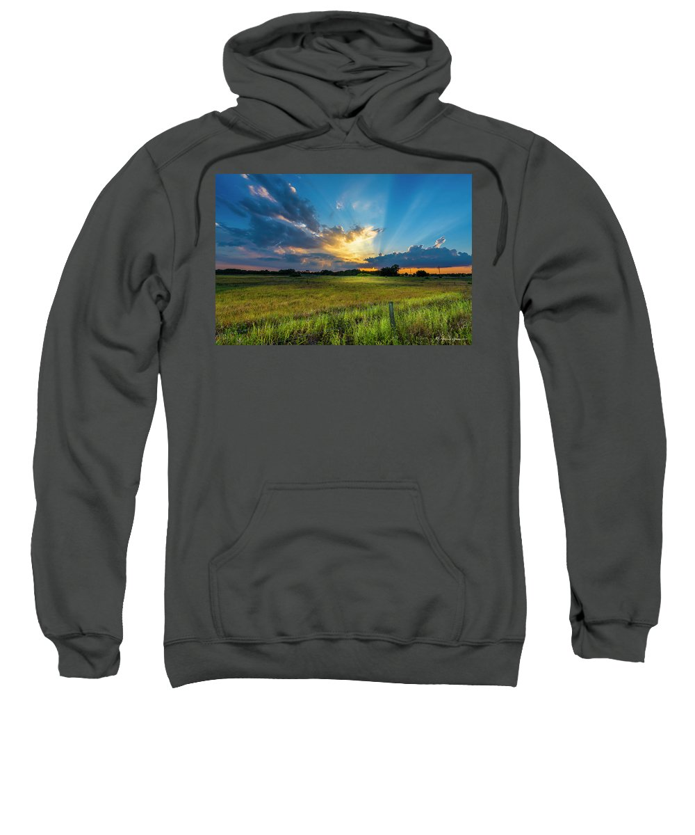Backroads Sweatshirt featuring the photograph Country Life by Marvin Spates