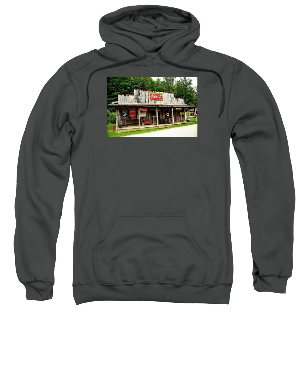 Country Store Sweatshirt featuring the photograph Country Store by Charles J Pfohl