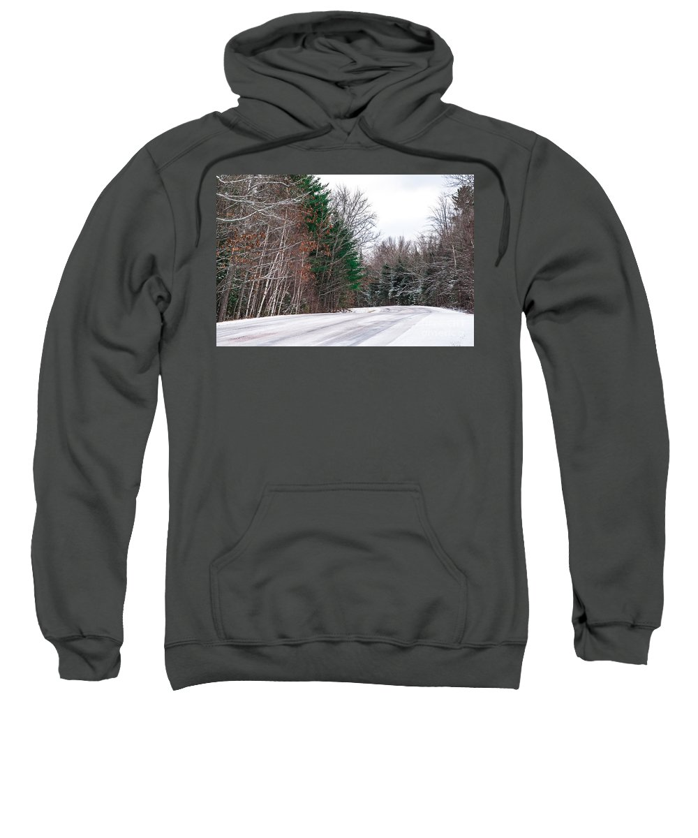 Snow Sweatshirt featuring the photograph Country Winter 9 by Wesley Farnsworth
