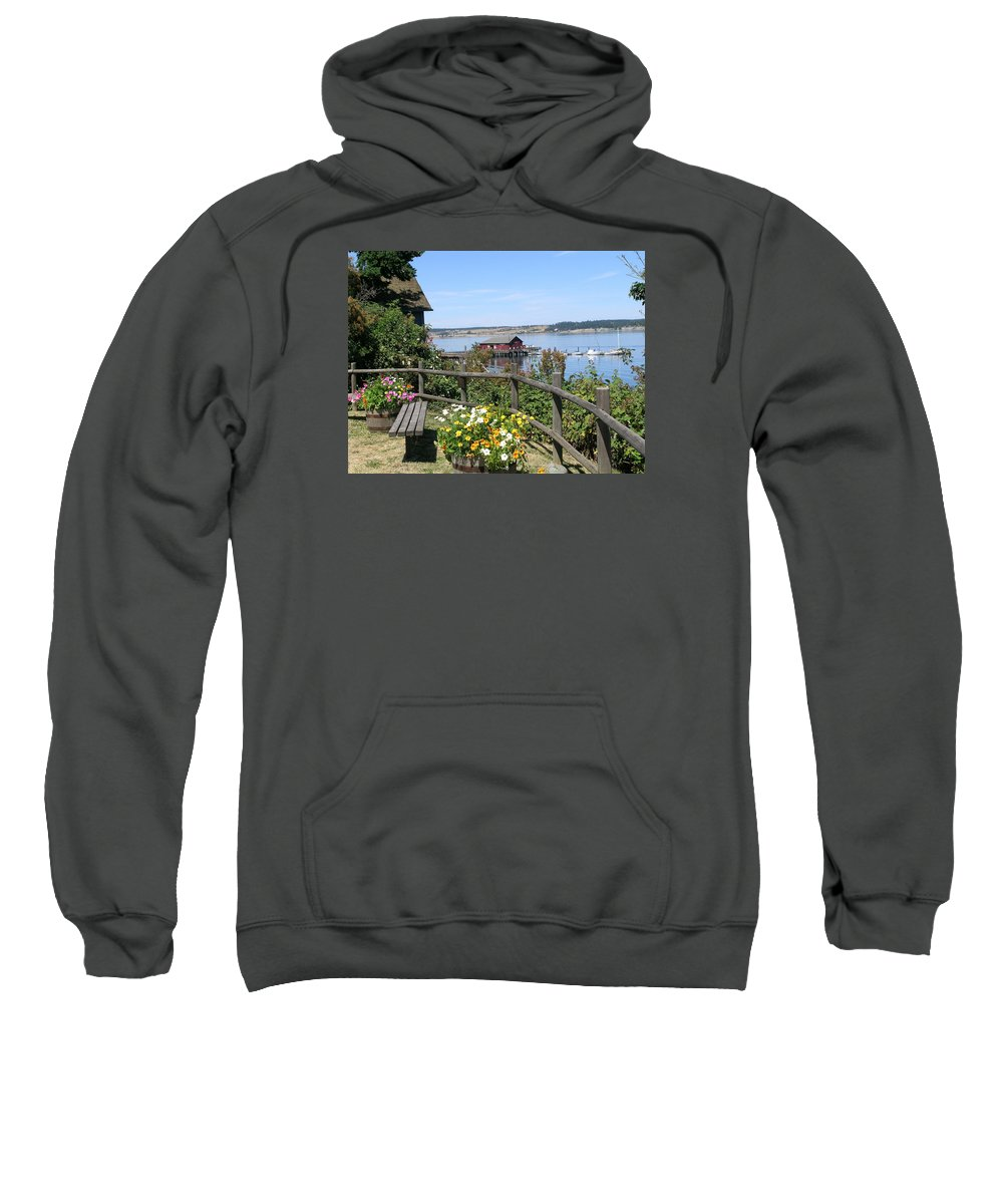 Coupeville Sweatshirt featuring the photograph Coupeville Wharf by Mary Gaines