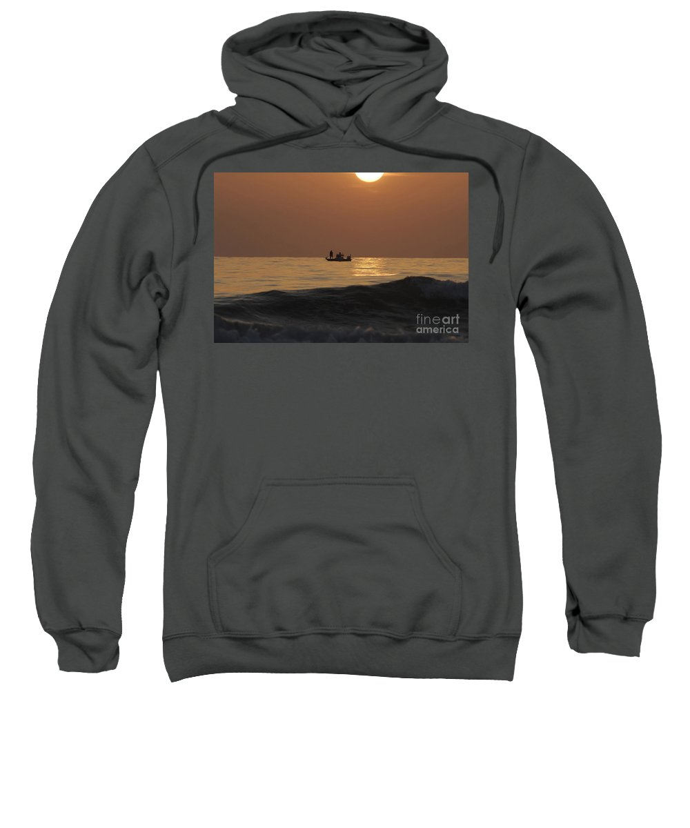 Sunset Sweatshirt featuring the photograph Couples At Sunset by David Lee Thompson