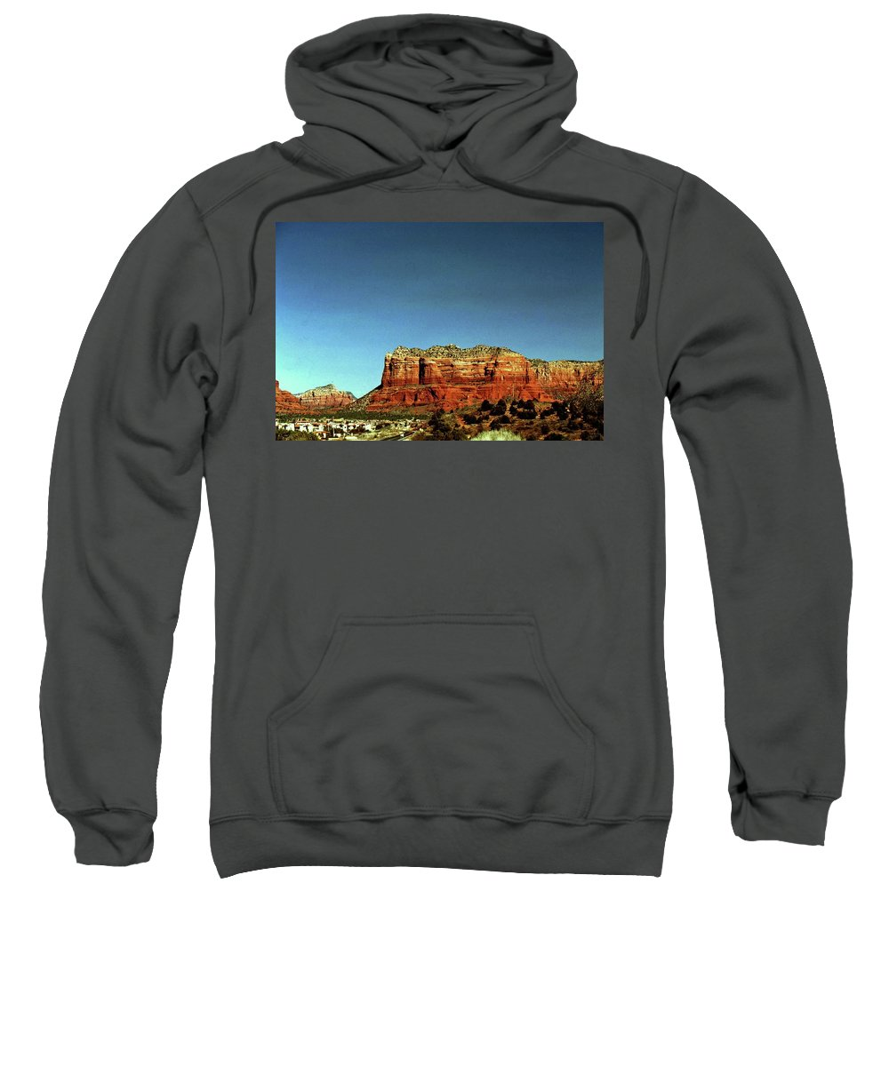 Arizona Sweatshirt featuring the photograph Courthouse Butte by Gary Wonning