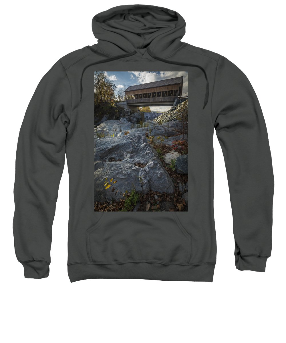 Bridge Sweatshirt featuring the photograph Covered Bridge by David Hook