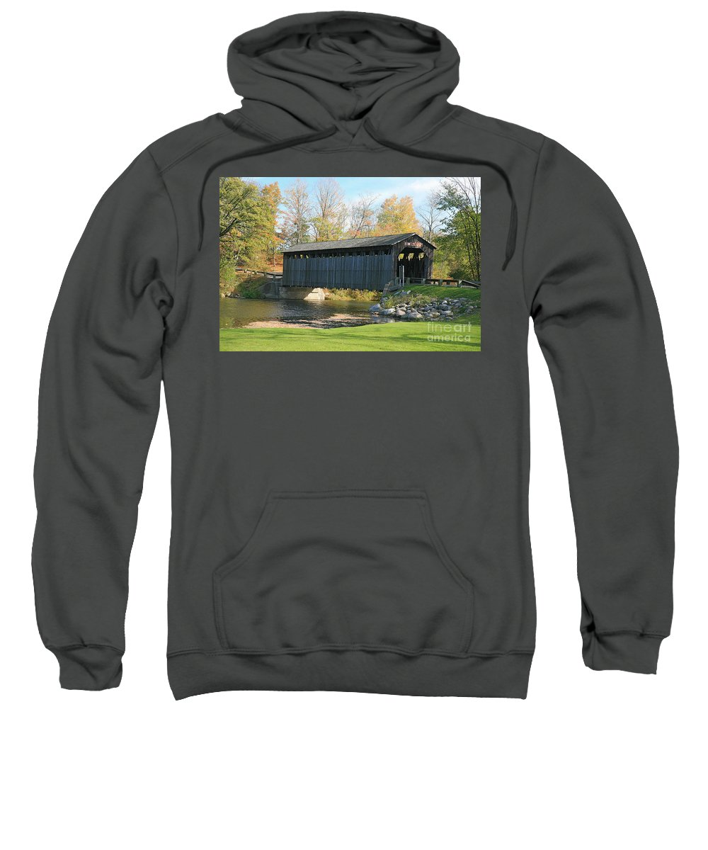 Covered Bridge Sweatshirt featuring the photograph Covered Bridge by Robert Pearson