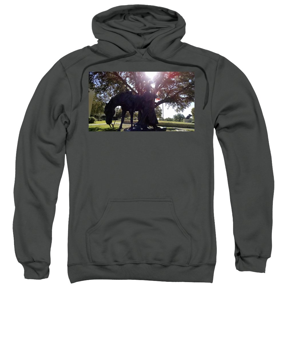 Cowboy Sweatshirt featuring the photograph Cowboy Frozen In Time by J L Hodges