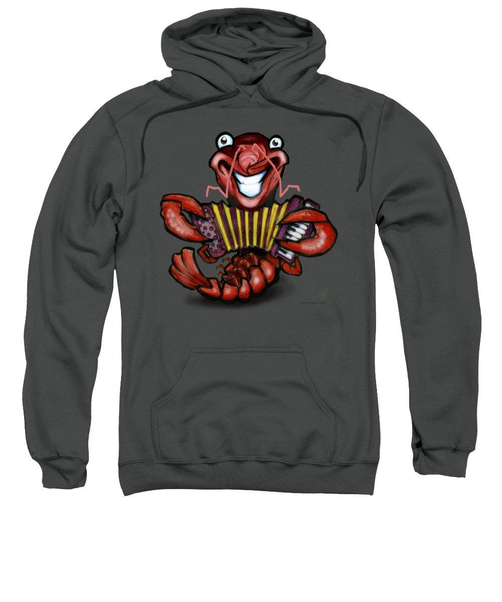 Crawfish Sweatshirt featuring the digital art Crawfish by Kevin Middleton