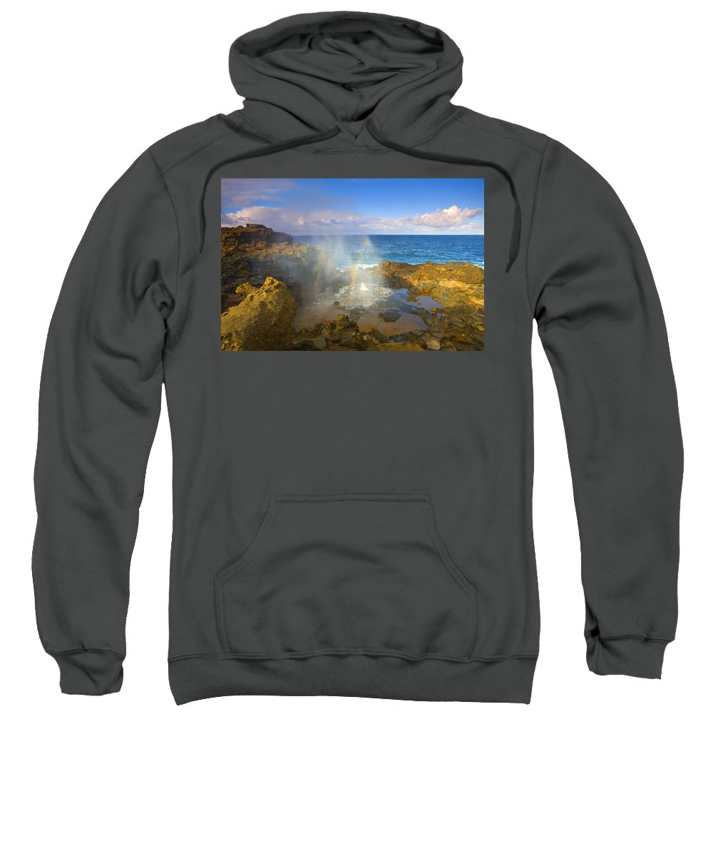 Blowhole Sweatshirt featuring the photograph Creating Miracles by Mike Dawson