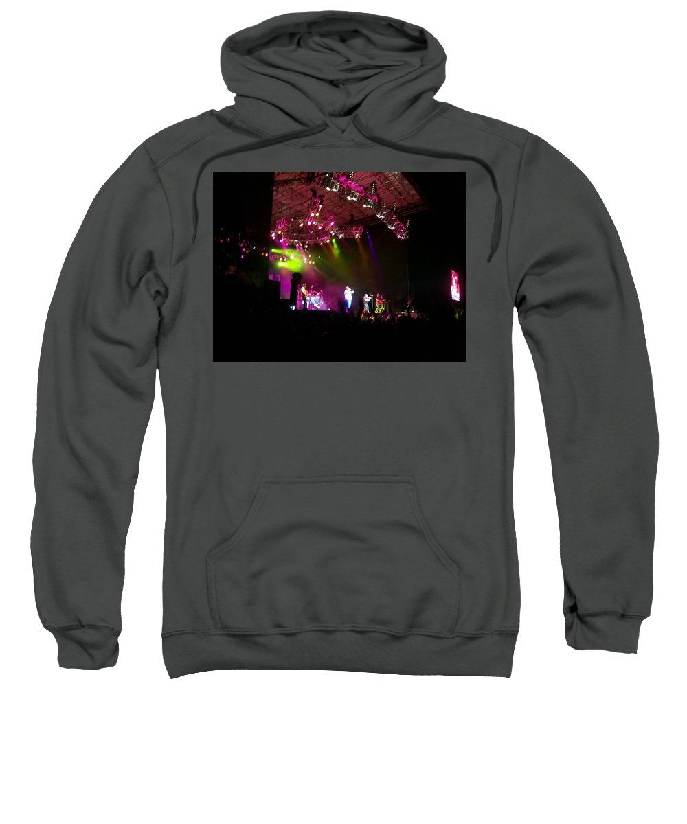 Creationfest At Night Sweatshirt featuring the photograph Creationfest At Night by R Chambers