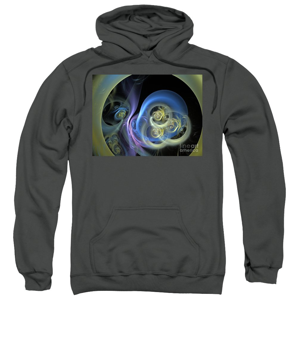 Apophysis Sweatshirt featuring the digital art Creatures From Beneath by Deborah Benoit