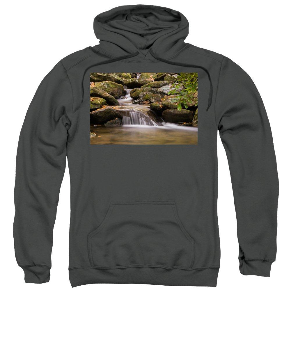 Autumn Sweatshirt featuring the photograph Creek 1 by Joye Ardyn Durham