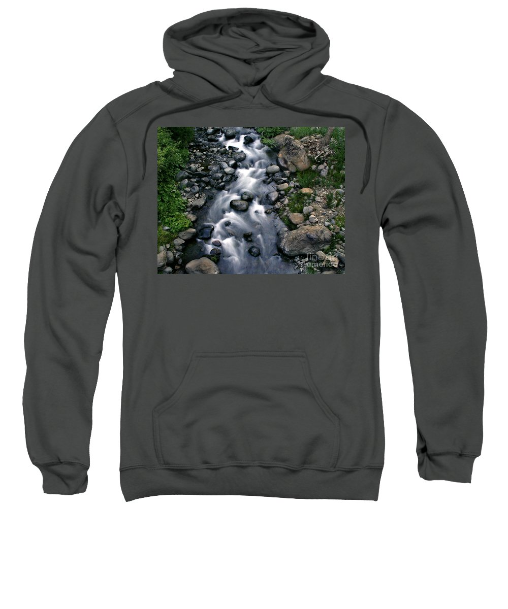 Creek Sweatshirt featuring the photograph Creek Flow by Peter Piatt