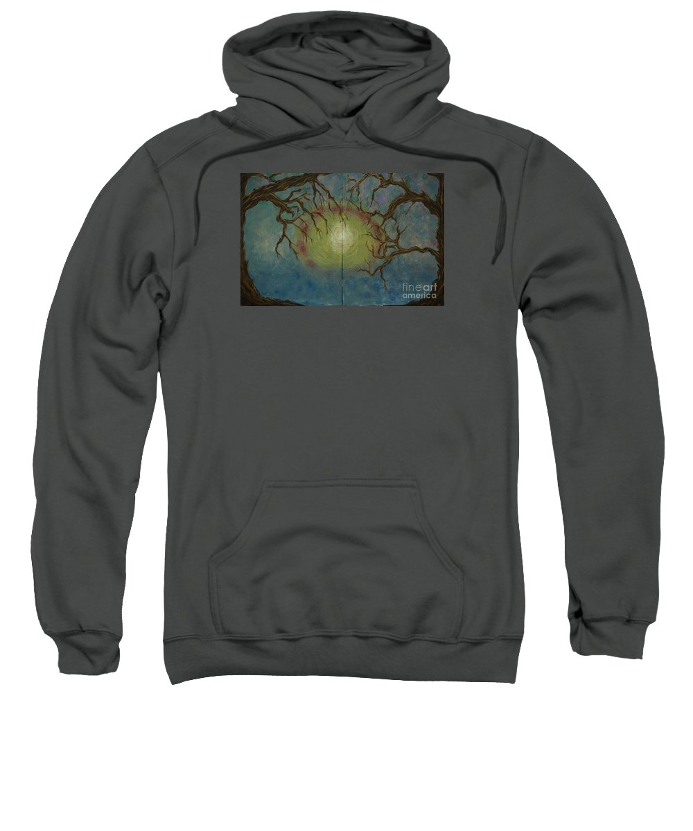 Tree Sweatshirt featuring the painting Creeping by Jacqueline Athmann