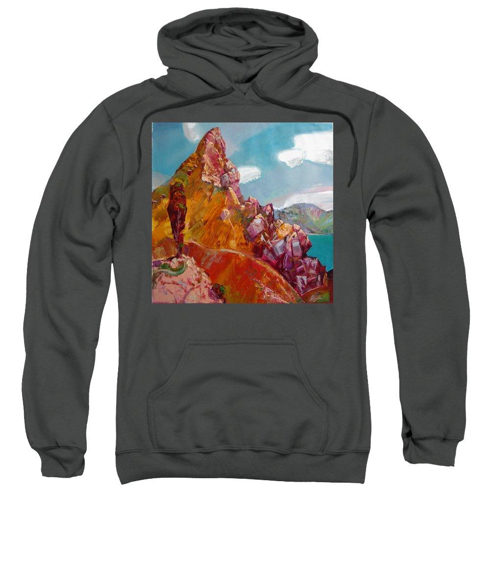 Ignatenko Sweatshirt featuring the painting Crimea by Sergey Ignatenko