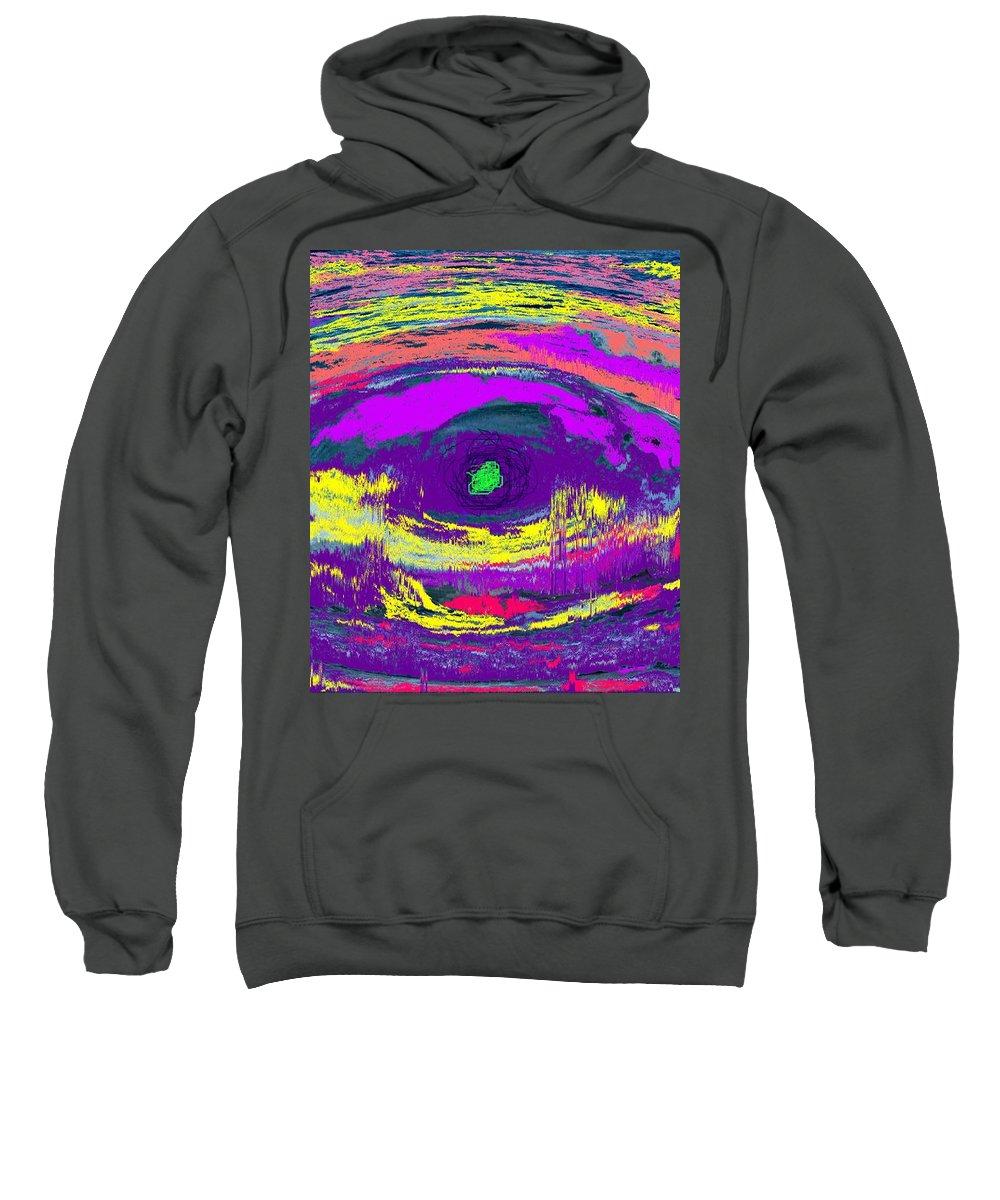 Abstract Sweatshirt featuring the digital art Crocodile Eye by Ian MacDonald