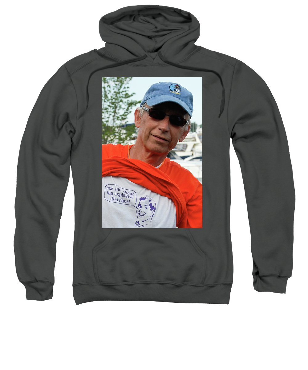 Crohn's Disease Sweatshirt featuring the photograph Crohn's Is A Funny Disease by Vm Vassolo