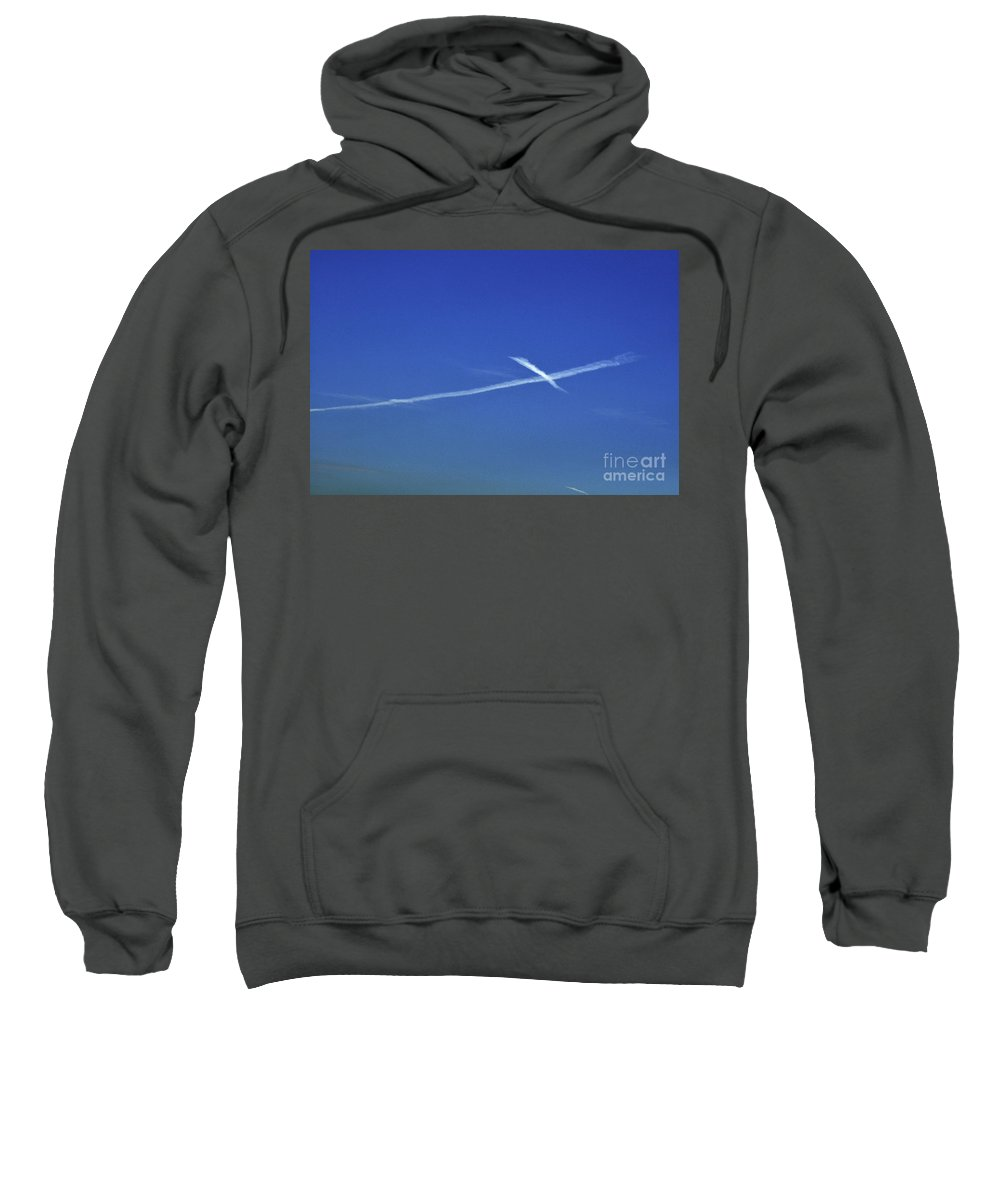Clay Sweatshirt featuring the photograph Cross In The Sky by Clayton Bruster