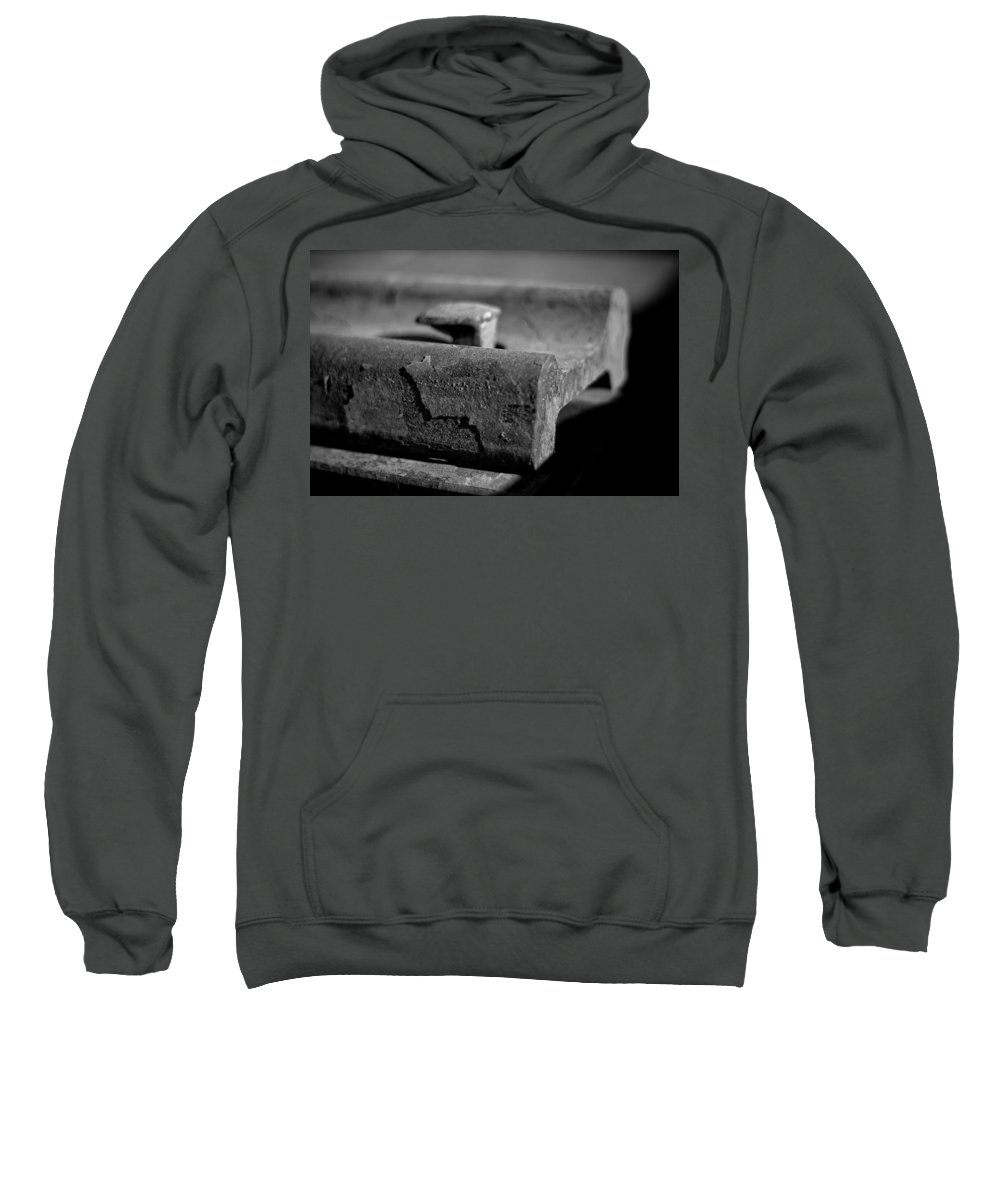 Black And White Photograph Sweatshirt featuring the photograph Cross View by Mike Oistad