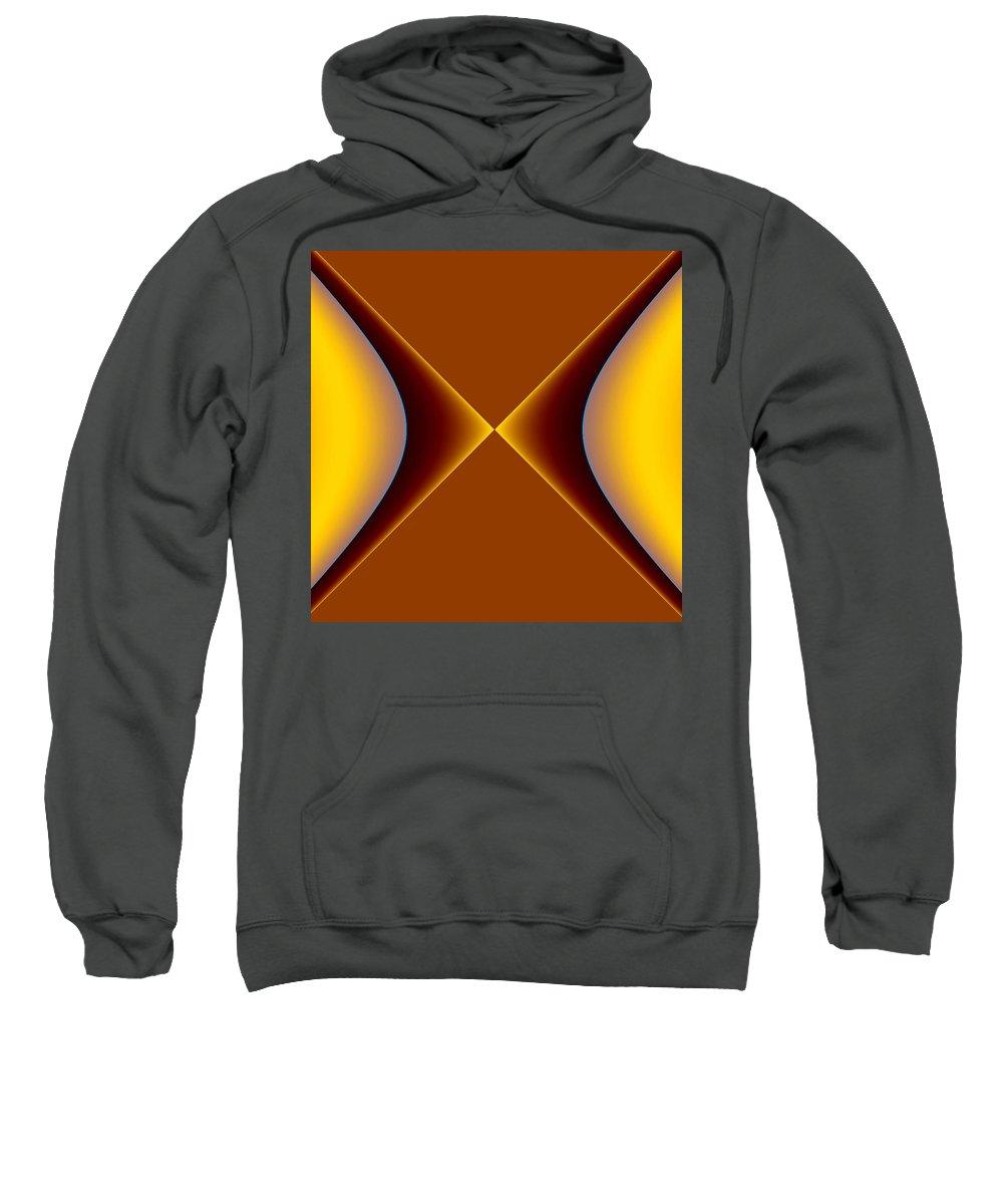 Digital Art Sweatshirt featuring the digital art crossing III by Dragica Micki Fortuna