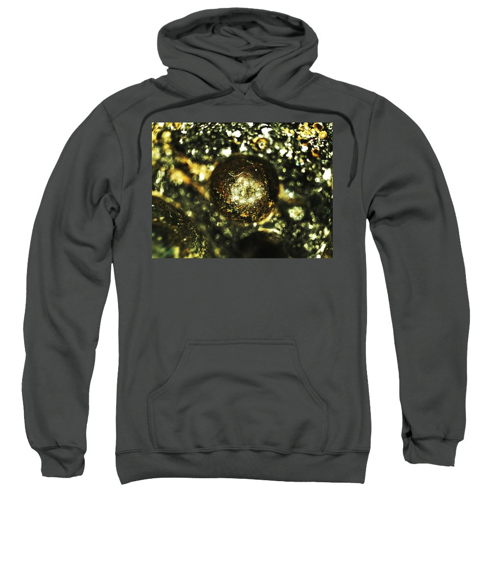 Abstract Sweatshirt featuring the photograph Crucible 1 by Michael Hackney