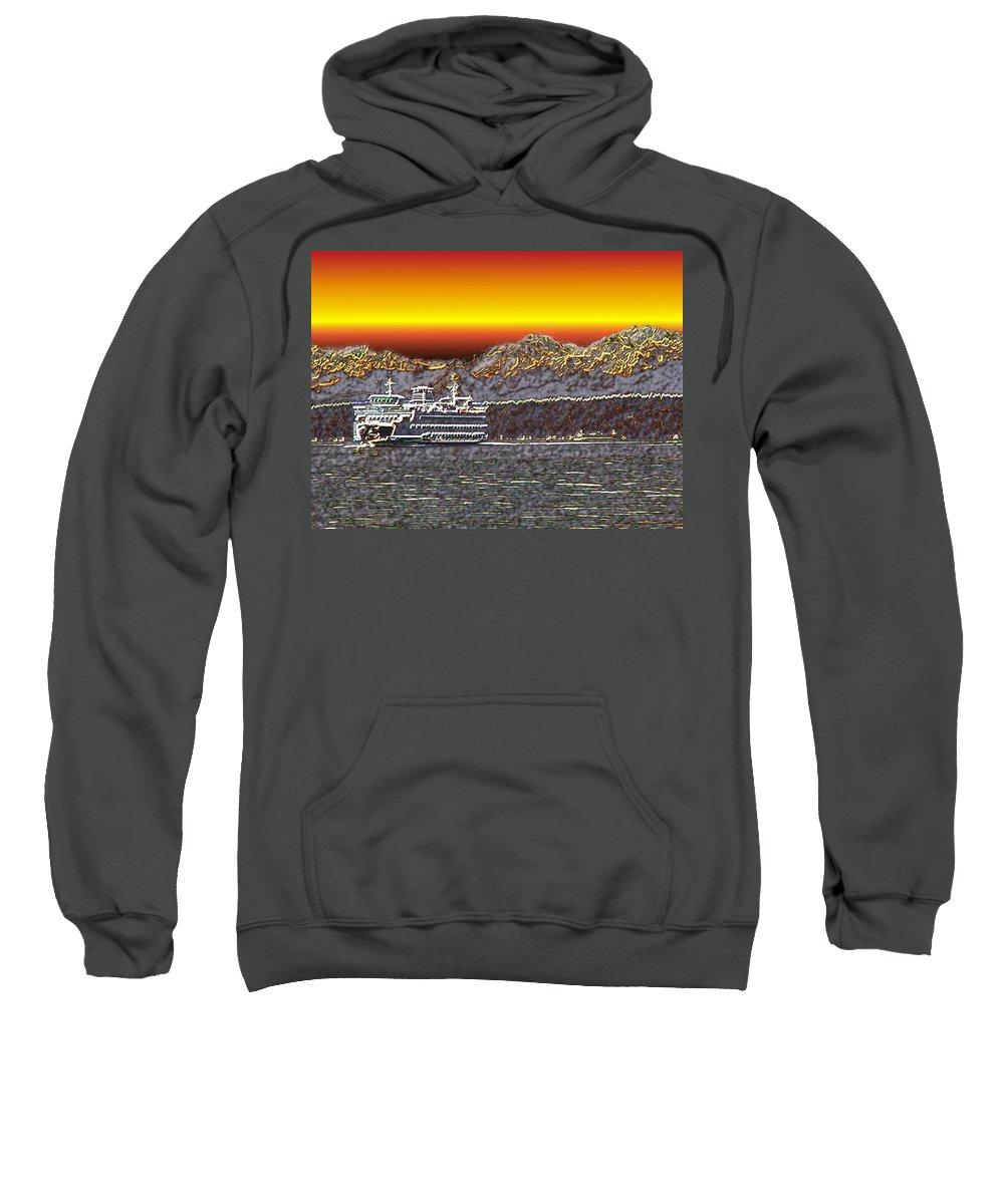 Seattle Sweatshirt featuring the photograph Cruisin The Sound by Tim Allen