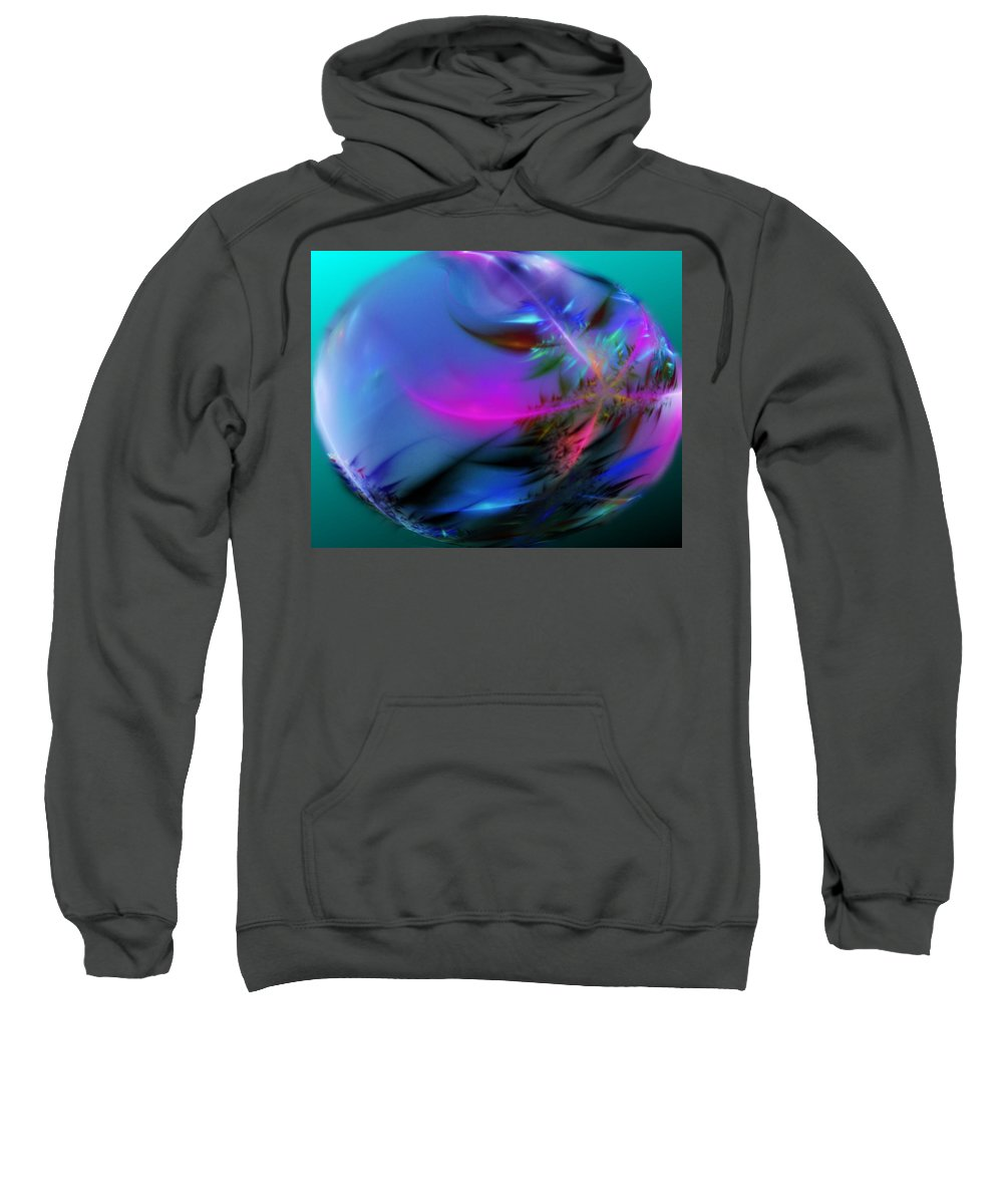 Digital Painting Sweatshirt featuring the digital art Crystal Egg by David Lane